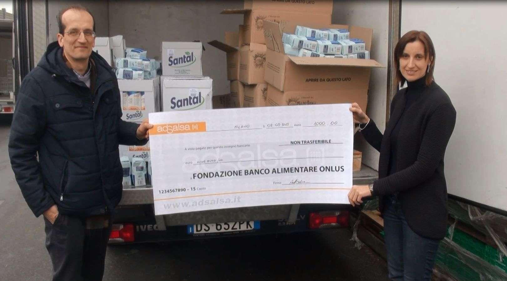 AdSalsa con Banco Alimentare per combattere lo spreco