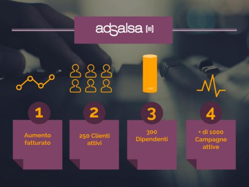 AdSalsa, aumentano fatturato e clienti per il mercato Italia nel 2017.