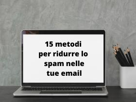 ridurre lo spam